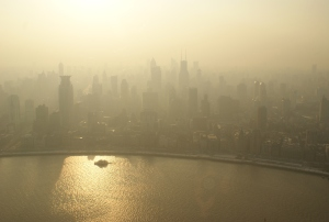 """The golden glow of flowery description suffused the air between the towers of Shanghai, looking suspiciously like smog."""